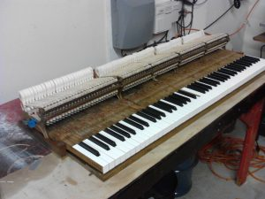Steinway action nearly finished