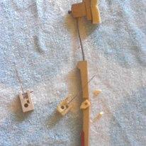 broken piano parts: plastic flange