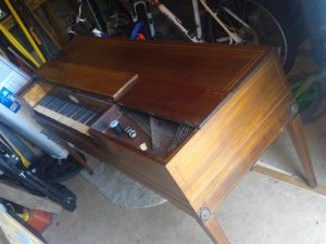 Astor piano with the lid